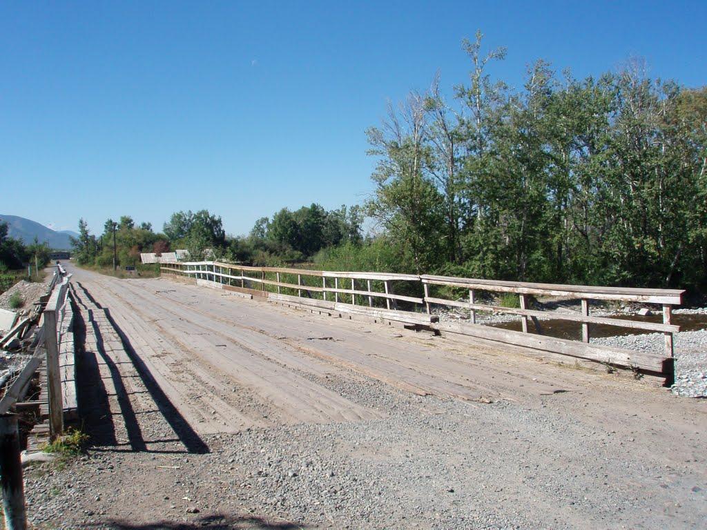 Road bridge above Durgen River, Самагалтай