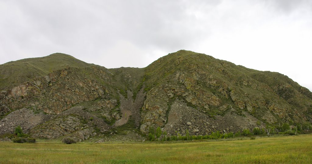 An illustrative example of the destruction of the mountains, Суть-Холь