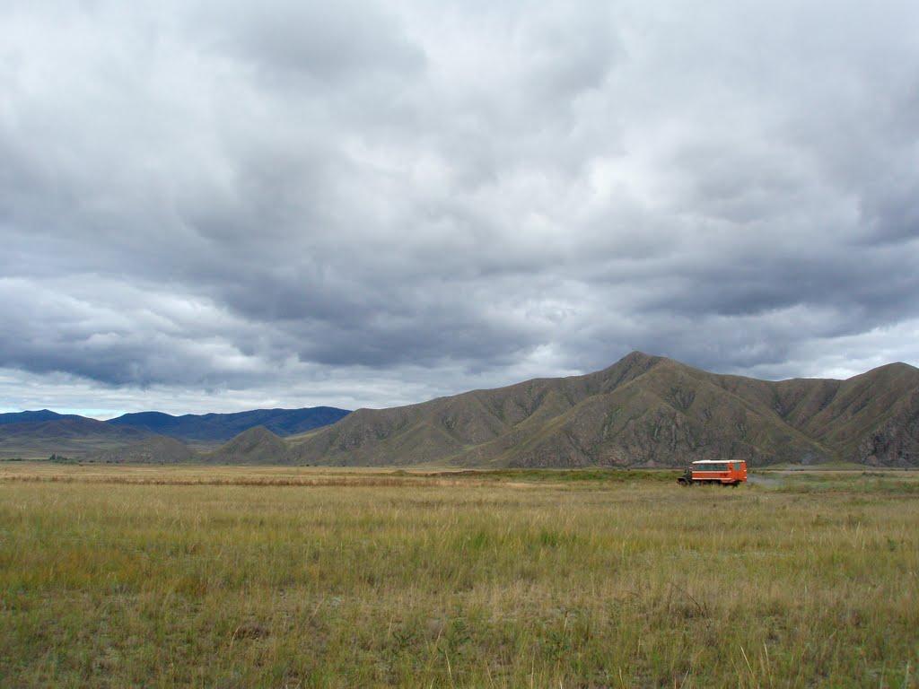 Hills near Kundustug village, Суть-Холь