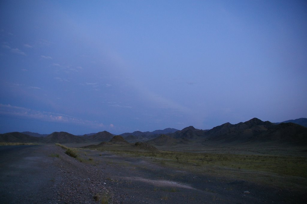 дорога на Ак-довурак раннее утро, Тээли