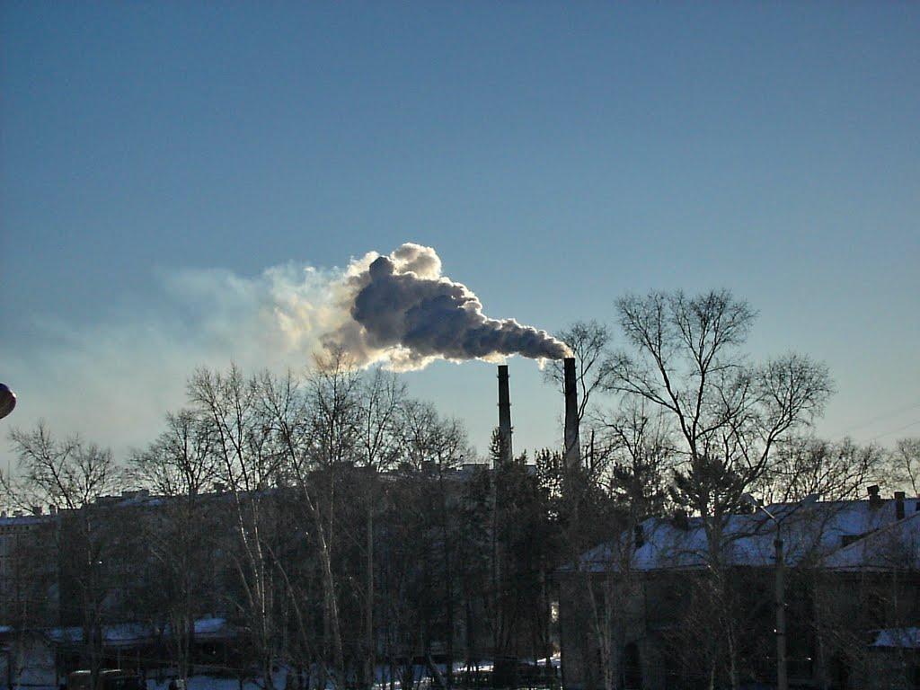 """вид из окна гостиницы """"СЕВЕР"""", Николаевск-на-Амуре"""