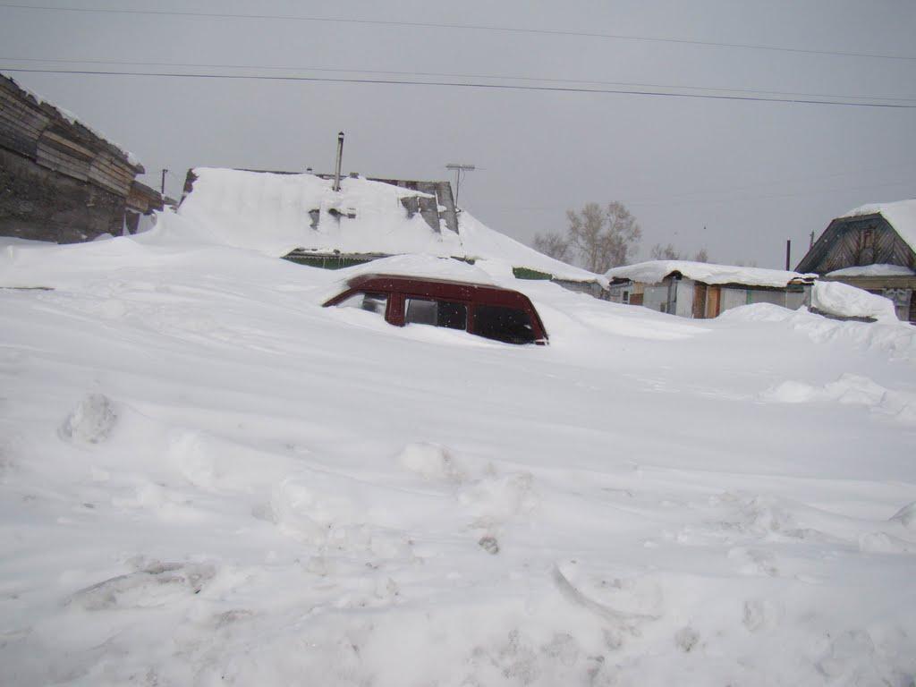На улице Николаевска после снежной бури, Николаевск-на-Амуре