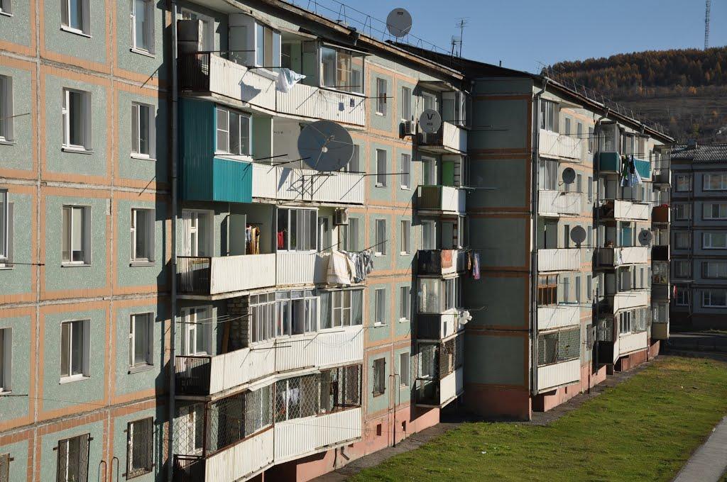 Obluchye (2012-10) - Neighbourhood view, Облучье