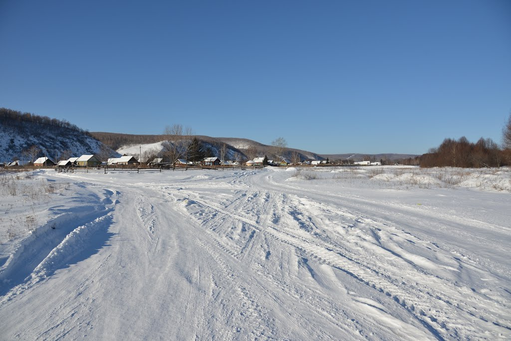Obluchye (2013-02) - Snow covered river bed, Облучье