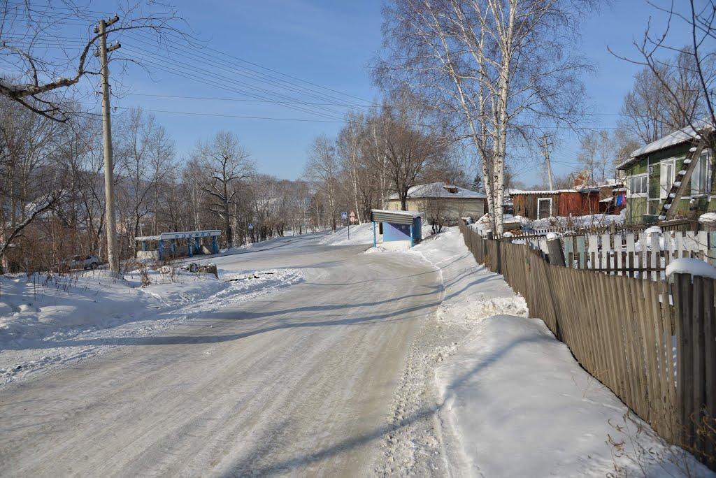 Obluchye (2013-02) - Bus station near train station, Облучье
