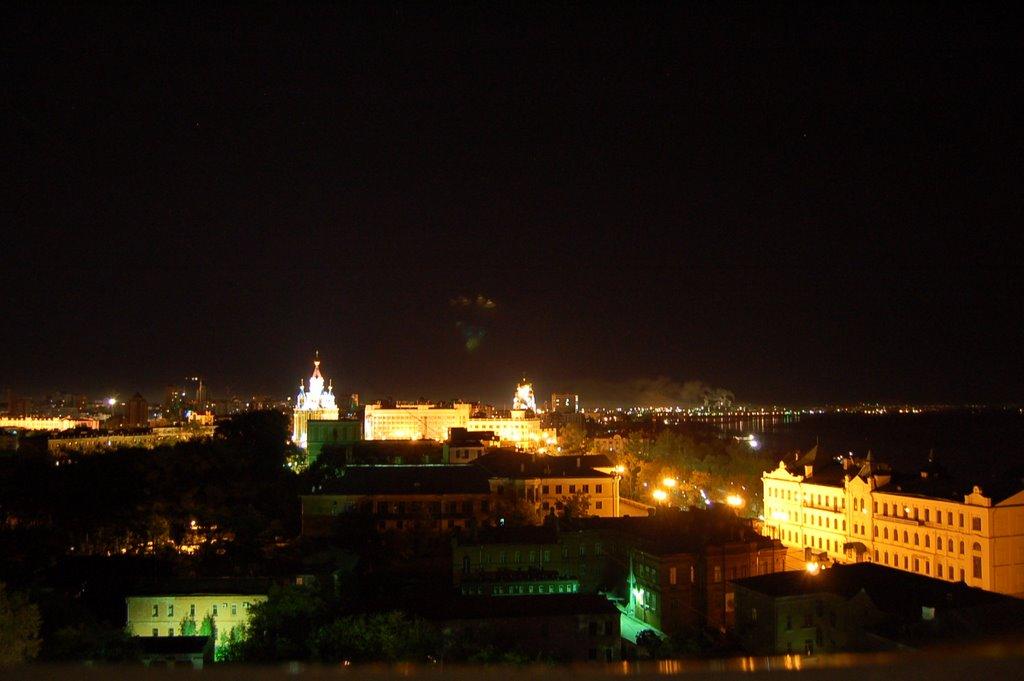 俄罗斯哈巴罗夫斯克--Khabarovsk--伯力夜景, Хабаровск