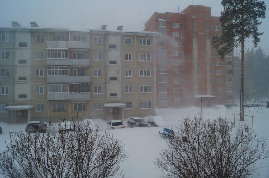 Снежная вьюга 8 марта 2013, Трехгорный
