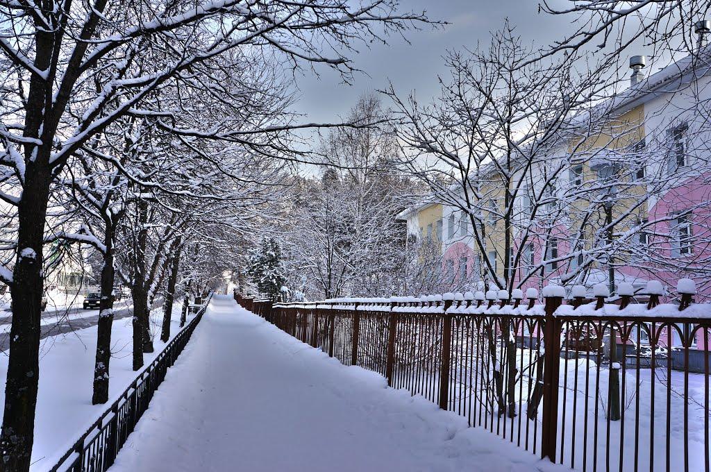 Трехгорный зима ул. Карла Маркса, Трехгорный
