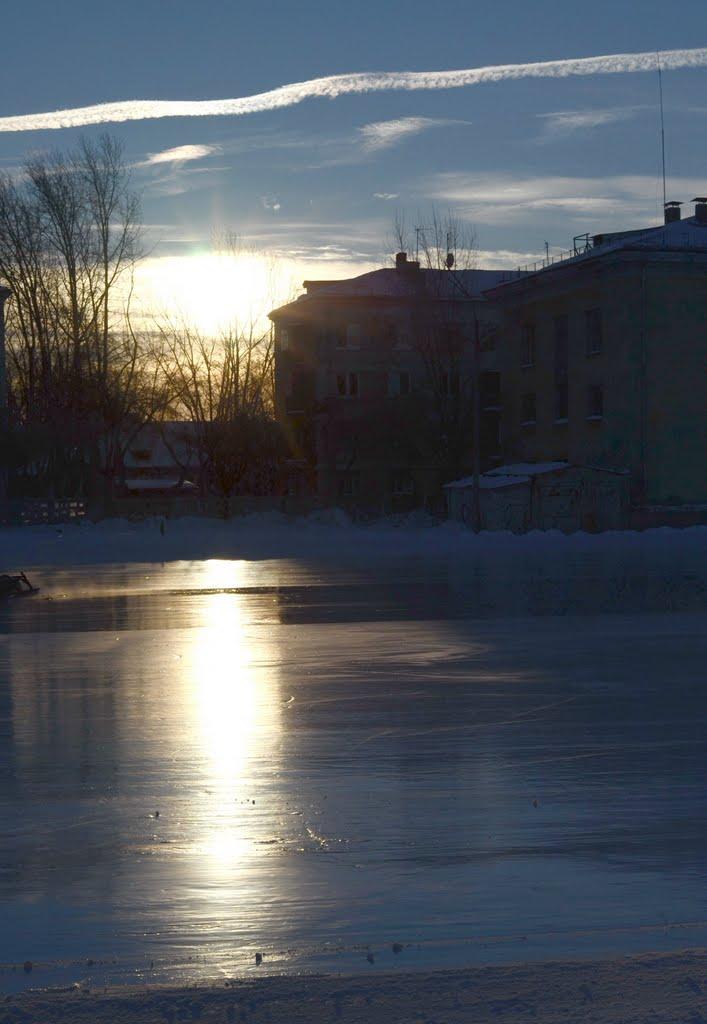 sunrise at the skating rink, Озерск