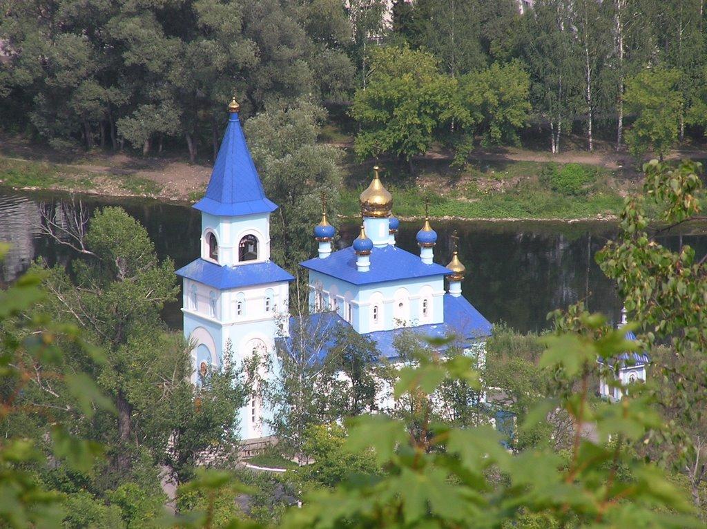 Аша. Вид на Церковь с Липовой горы., Аша