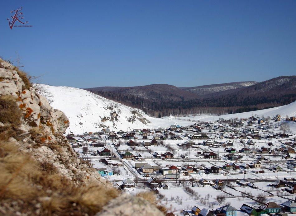 Вид на аминовку с соколиной горы, Аша