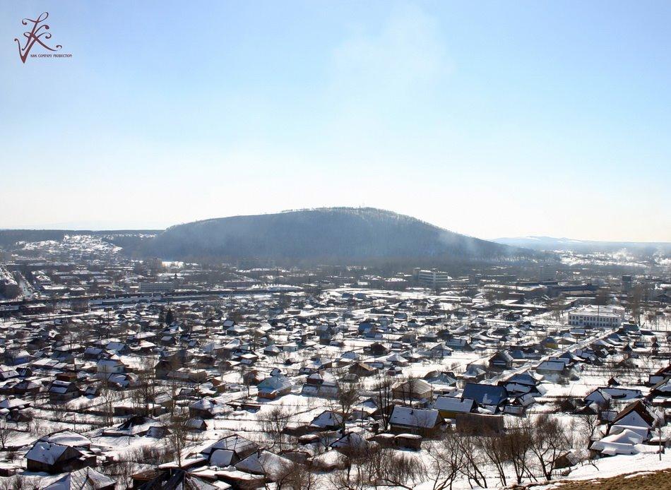 Вид на город с, Аша