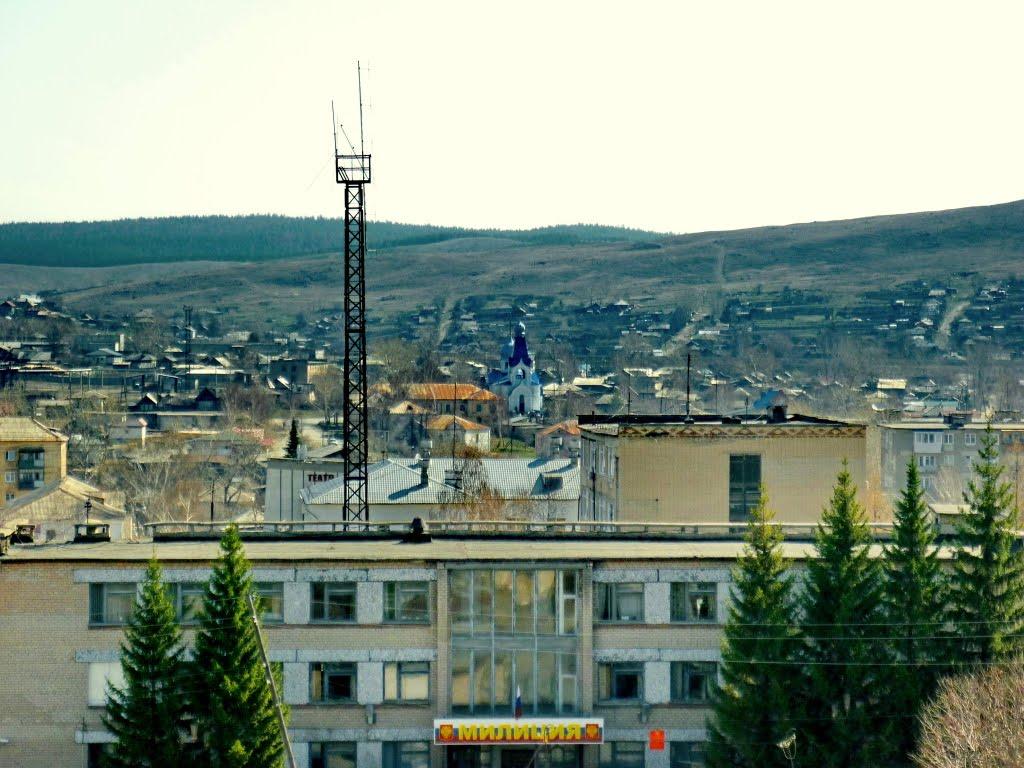 Вид с заброшенного здания по ул.Прямицына, Верхний Уфалей