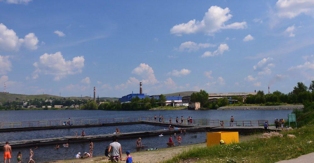 beach on the pond, Верхний Уфалей