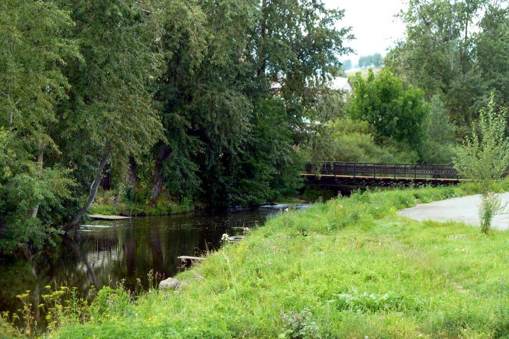 Верхний Уфалей. Пешеходный мост через реку., Верхний Уфалей