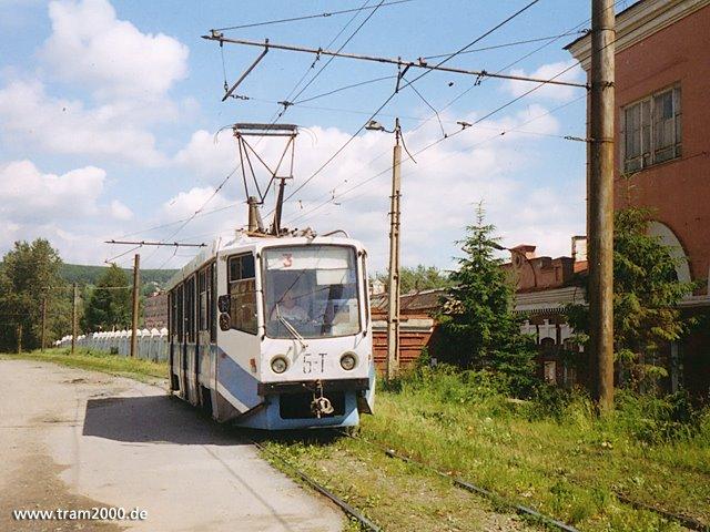 KTM-8M in der Uliza Masterskaja, Златоуст