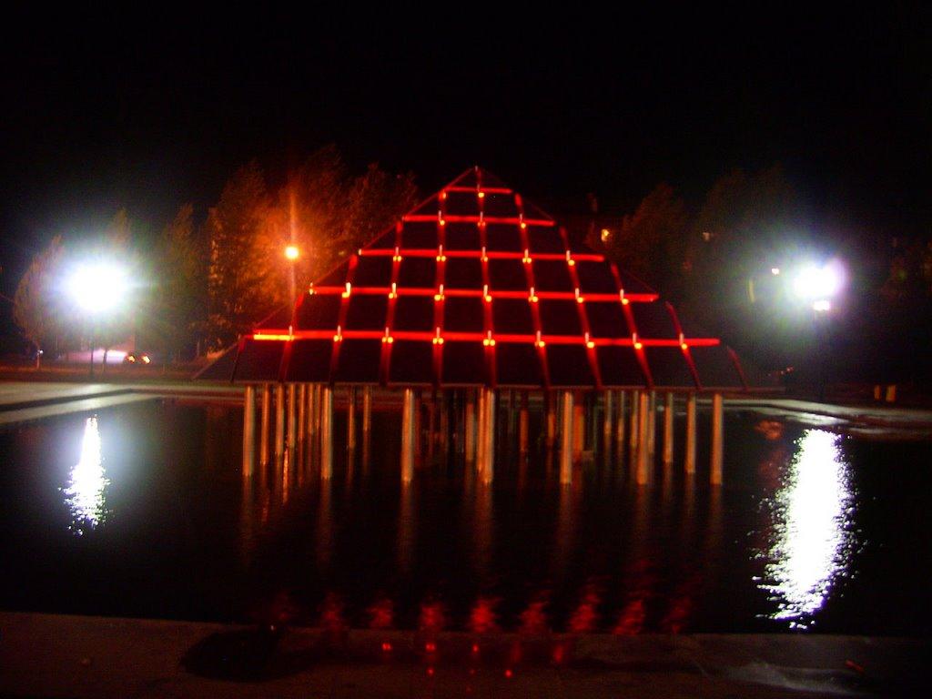City fountain Night (Kopeysk, U. Ural - Russia), Копейск