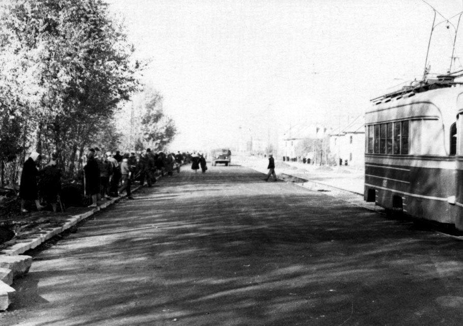 Kopeysk. Проспект Победы. 60-е годы., Копейск