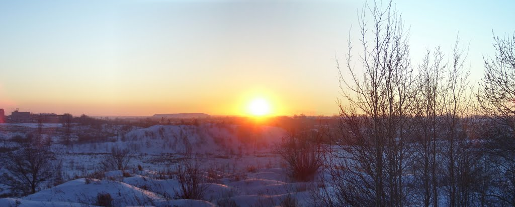 Зимний закат, Копейск