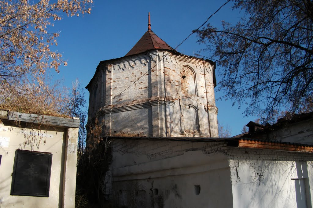 Кыштым, сторожевая башня XVIII века возле усадьбы Демидова, фото 24 окт 2010, Кыштым