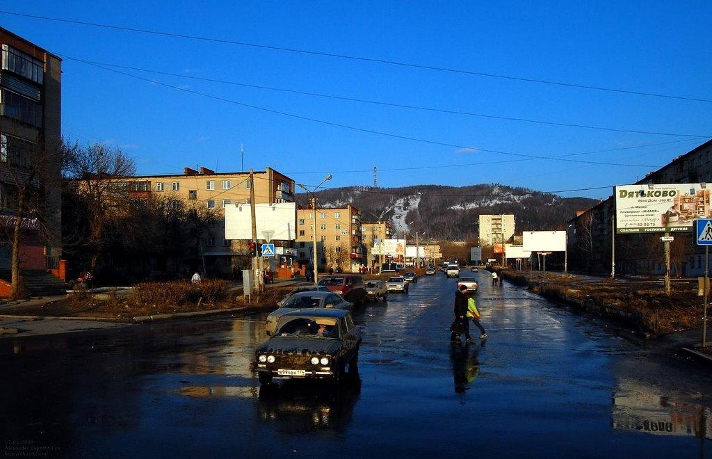 Миасс, улица Лихачёва / Likhachyov Street, Miass, Миасс