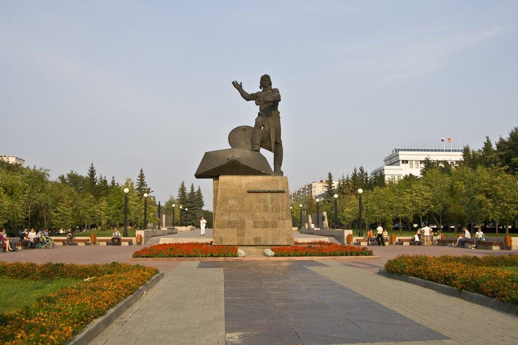 Chelyabinsk, Monument to Volunteers-Tankmen, Aug-2008, Челябинск