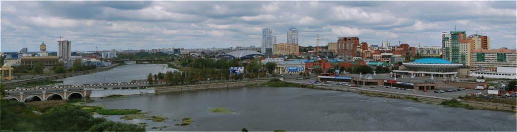 Набережная реки Миасс (сентябрь 2010), Челябинск