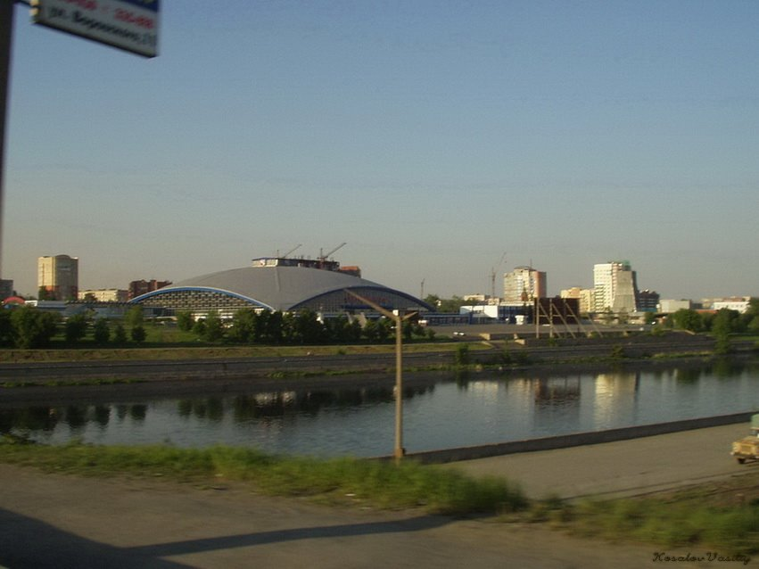 Торговый центр с моста /View on the shopping centre, Челябинск
