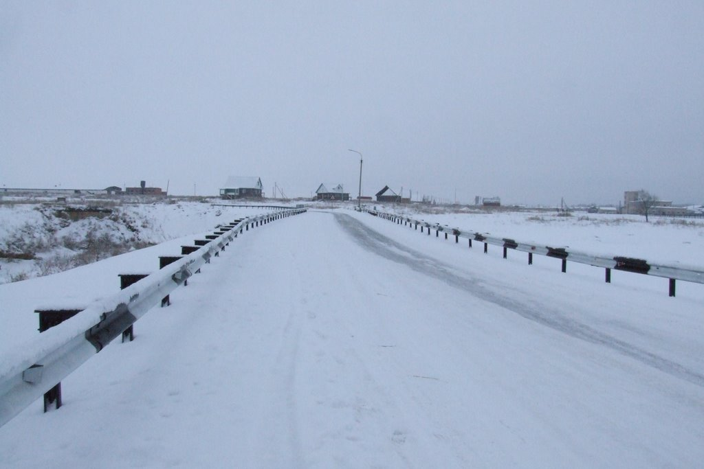 snowy road in southern urals, Чесма