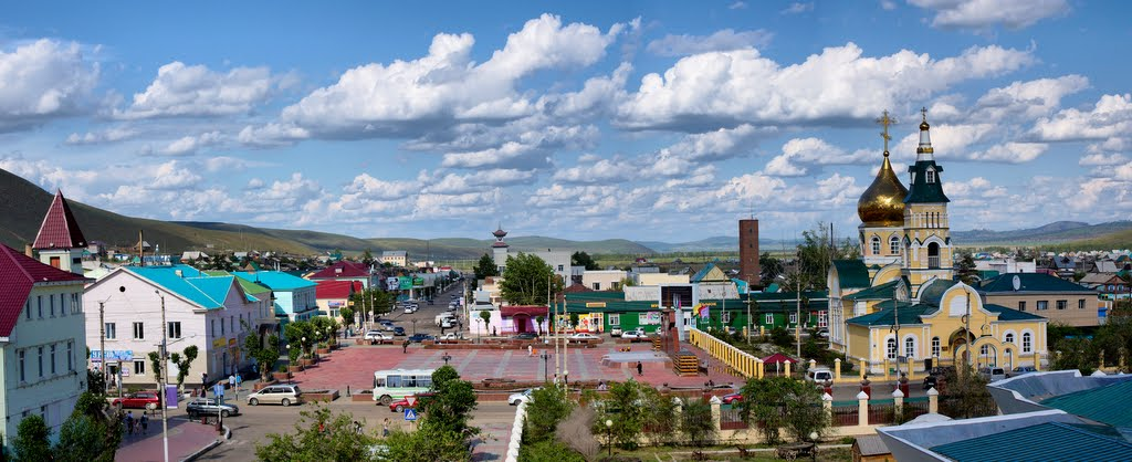 Центральная площадь пгт. Агинское (Aginskoe. Central square), Агинское