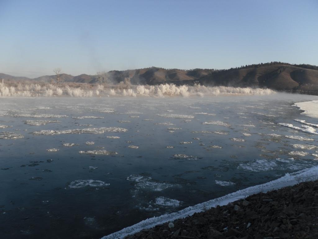 Река Онон в ноябре, Акша
