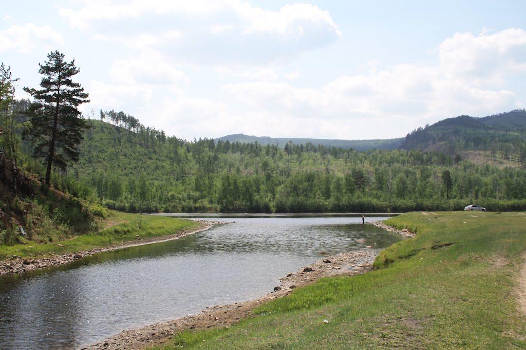 Место впадения Никишихи в Ингоду, Атамановка