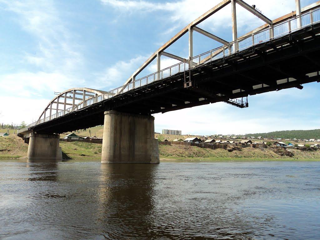 Мост через реку Ингода в поселке Дарасун, Дарасун