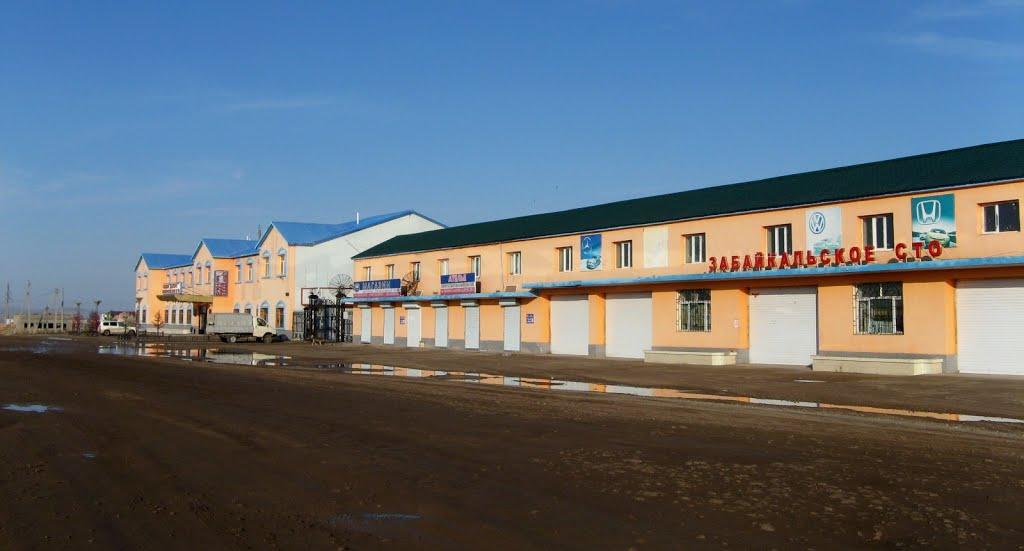 """Забайкальск,  гостиница """"Дуэт"""" и СТО, 07.06.2012, Забайкальск"""