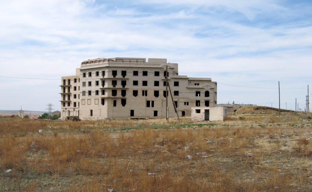 Забайкальск, недостроенный дом, 21.06.2011, Забайкальск