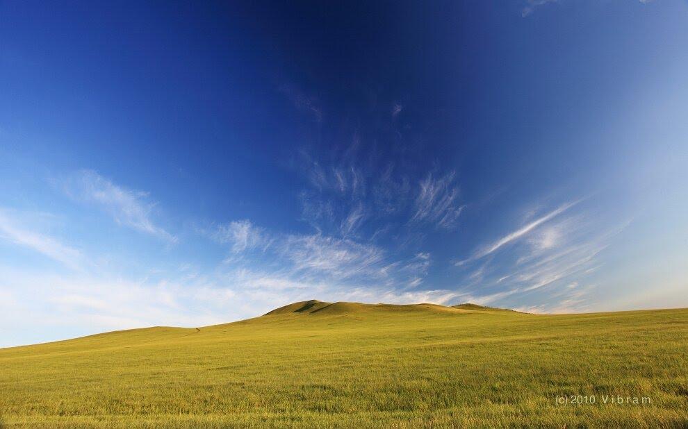 草原风光,近黑山头, Калга