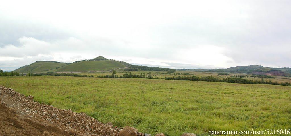 панорама степей Забайкалья, Калга