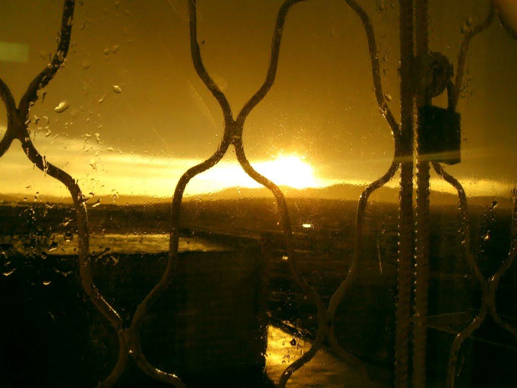 Закат окно дождь, Краснокаменск