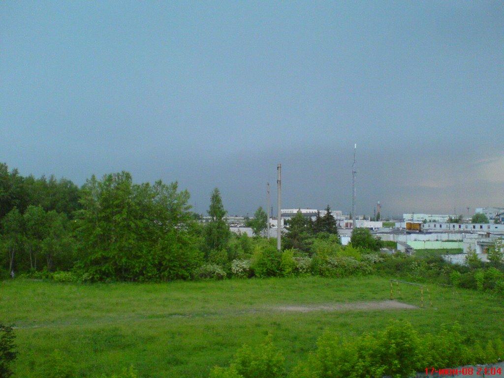 вид с балкона дома №5 по ул. 10-Пятилетки, Новочебоксарск