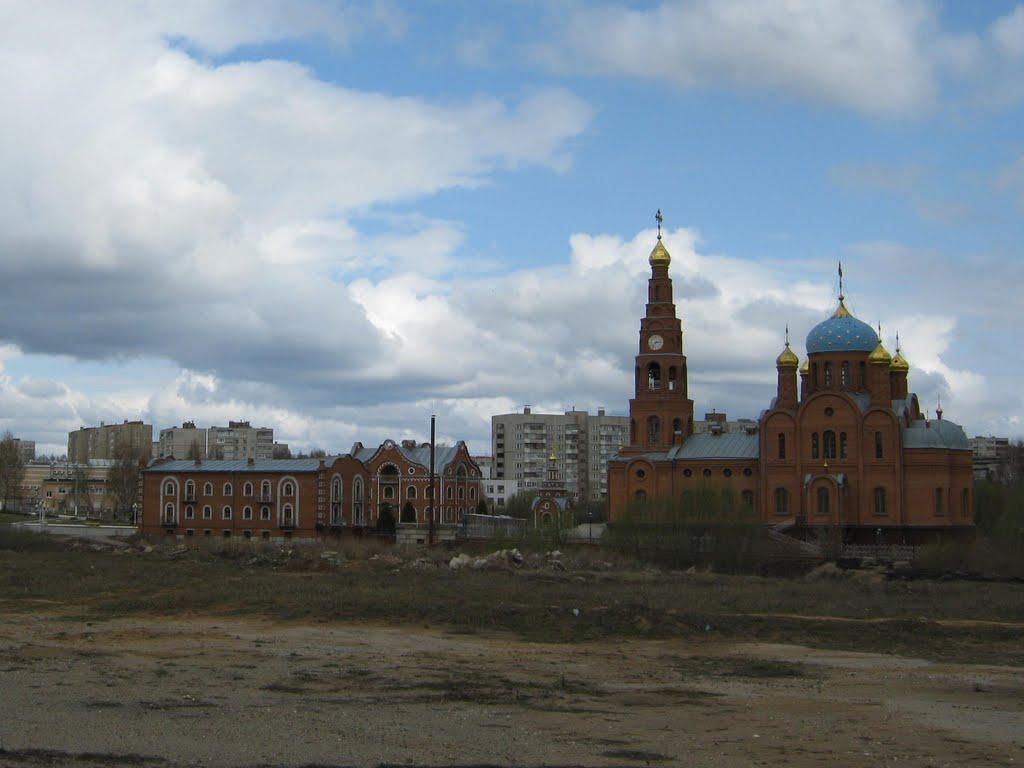 Вид на Владимирскую обитель  /  View on Vladimir farmstead, Новочебоксарск