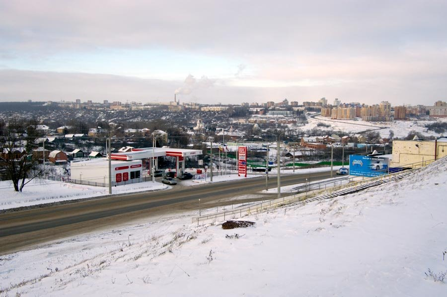 Вид на Северо-Западный район города и 30-ю автодорогу / View of the Northwest district of the city and the 30th motorway (03/01/2009), Чебоксары