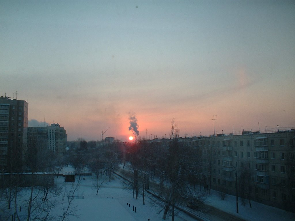 Street in winter, Шемурша