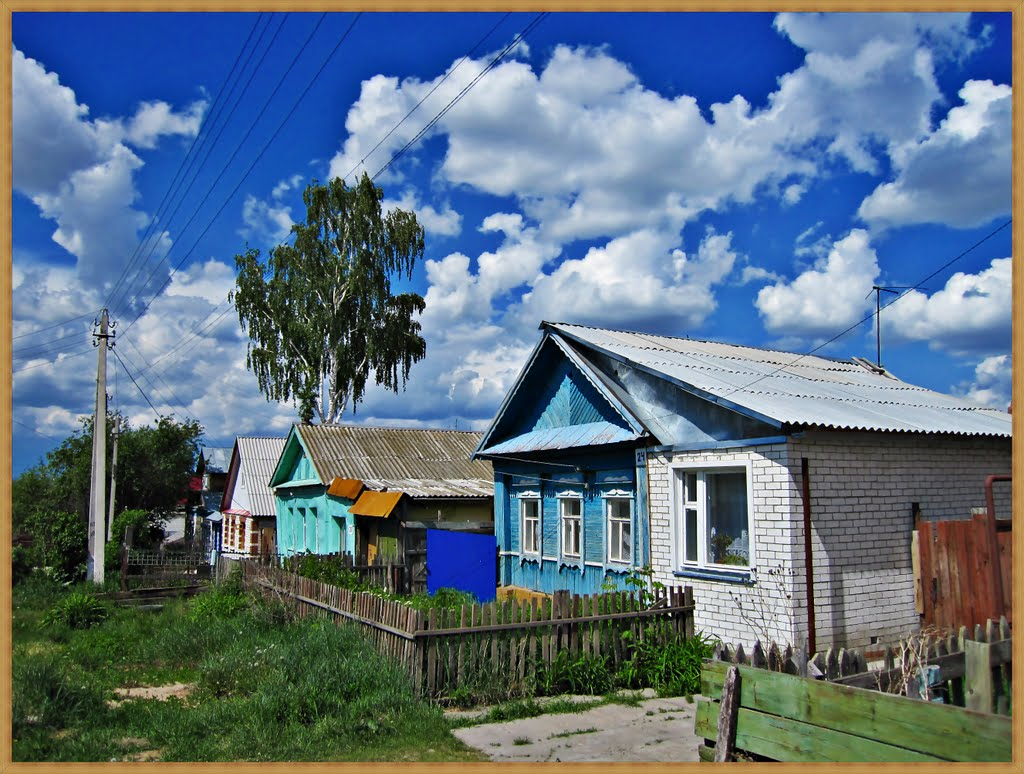 Wohnstrasse am dörflichen Rand von Ulyanovsk, Шемурша
