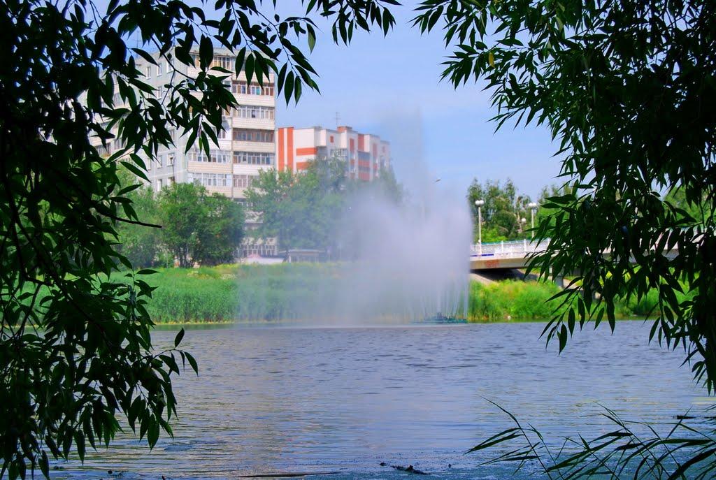 Фонтан в реке. Fountain in the river, Шемурша