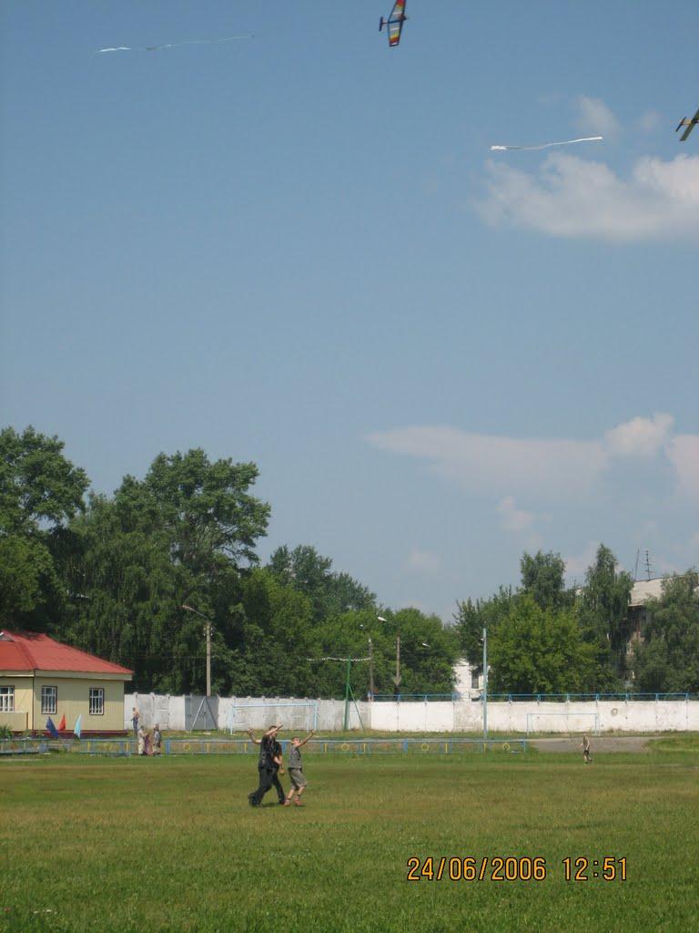 2006 год. Стадион труд, авиамоделисты и их модели., Шумерля