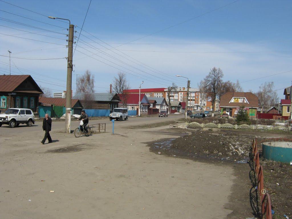 Улица 50 лет Октября (Вид на север)  /  Street of 50 years of October (View on north), Ядрин