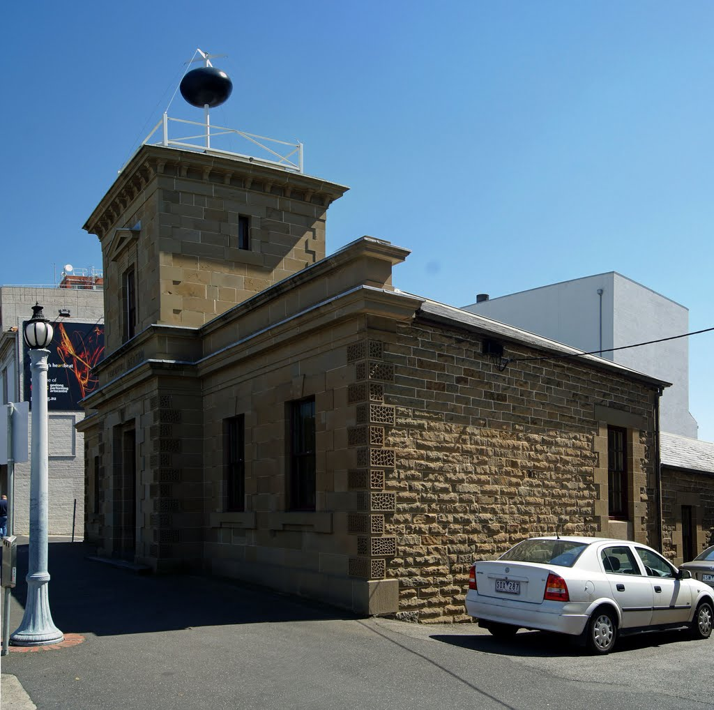 Former Telegraph Station (2011). Built in 1857-8, it was the centre of communications for Geelong and district for many years. The time ball was released at 1pm daily (except Sundays), Гилонг