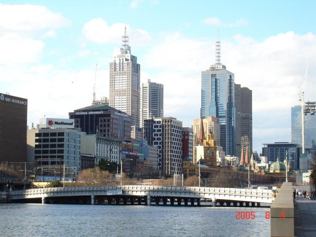 雅拉河畔一景., Мельбурн