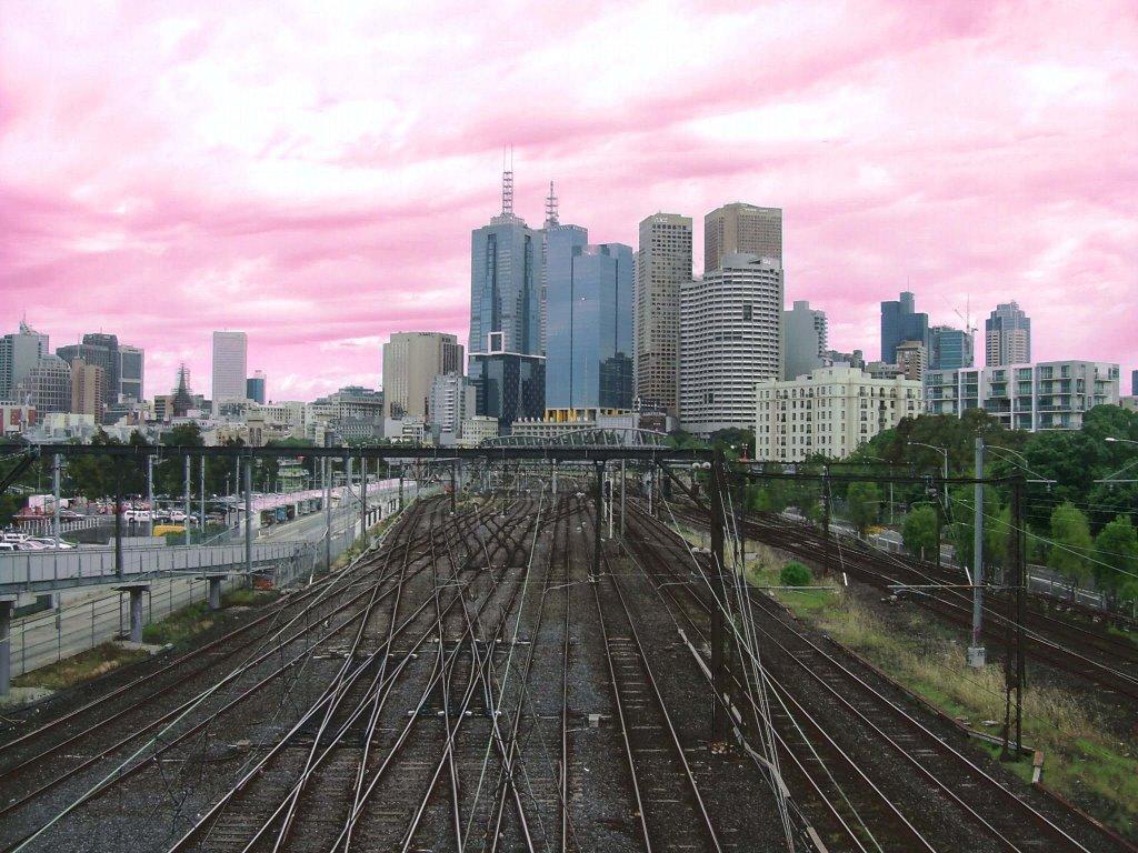 Melbourne, Australia from MCG Walkbridge, Мельбурн