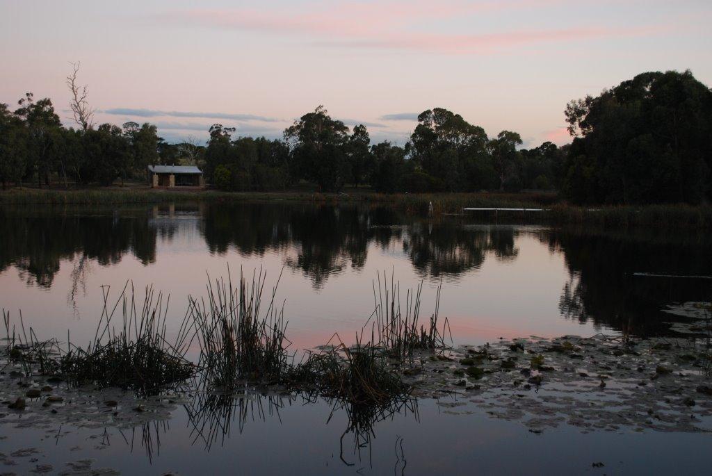 Bird Hides at the Historic Railway Reservoir Reserve, Traralgon, Траралгон